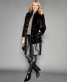 Mink-Fur Stand-Collar Jacket
