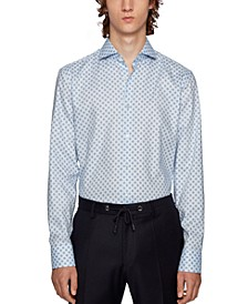 BOSS Men's Jason Geometric Print Shirt