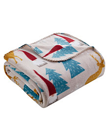 Morgan Home Wood Gnome Printed Fleece Throw