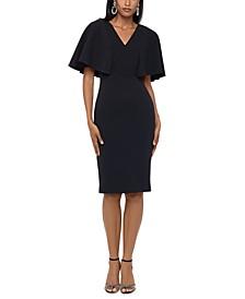 Flutter-Sleeve Sheath Dress