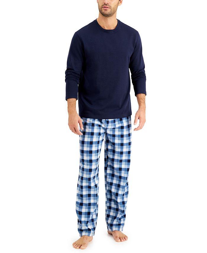 Club Room - Men's Plaid Pajama Set