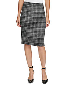 DKNY Tweed Pencil Skirt