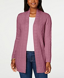 Cable-Knit Open-Front Cardigan, Created for Macy's