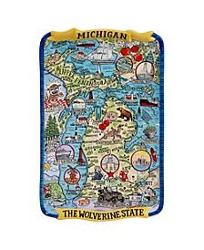 Certified International Michigan Souvenir Rectangular Platter