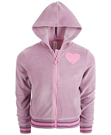 Little Girls Velour Full-Zip Hoodie, Created for Macy's