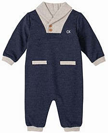 Baby Boys Shawl Collar Coverall
