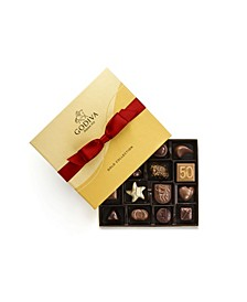 Red Bow Ballotin Gold Chocolate Gift Box, 19 Piece Set