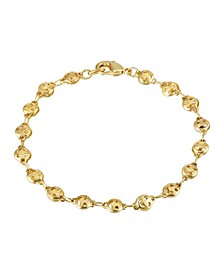 Gold-Tone Happy Face Chain Bracelet