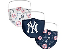New York Yankees 3-Pk. Face Mask