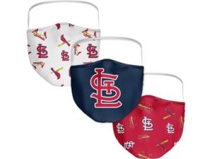 St. Louis Cardinals 3-Pk. Face Mask