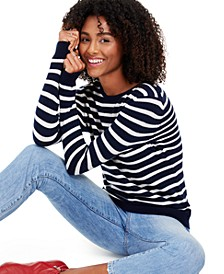 Striped Cashmere Crewneck Sweater, Created for Macy's