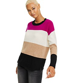 Colorblocked Cashmere Pullover Sweater, Created for Macy's