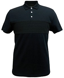Men's Terry Colorblocked Polo, Created for Macy's