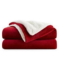 """50"""" x 60"""" Fleece and Sherpa Blanket"""