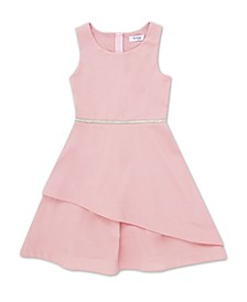 Little Girl Round Neck Tier Bottom Dress