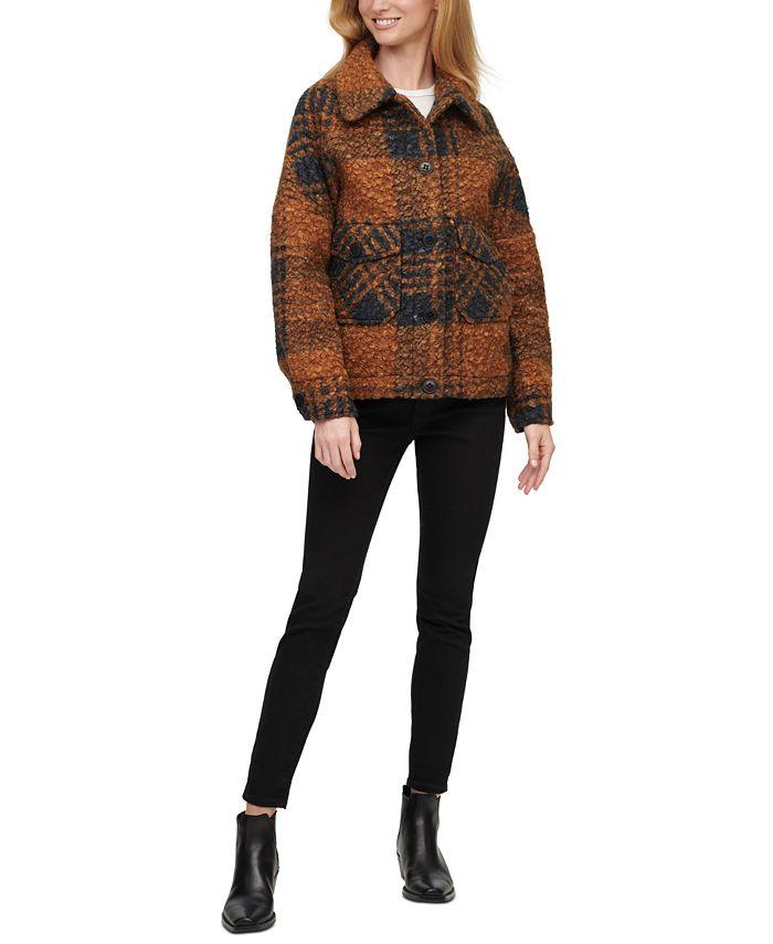 Calvin Klein - Plaid Shirt-Jacket Coat