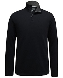 Men's Mock-Neck Quarter-Zip Sweater, Created for Macy's