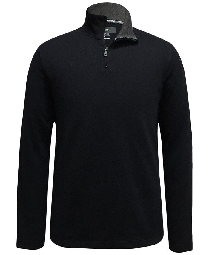 Alfani - Men's Mock-Neck Quarter-Zip Sweater