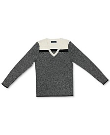 Cotton Colorblocked V-Neck Sweater, Created for Macy's