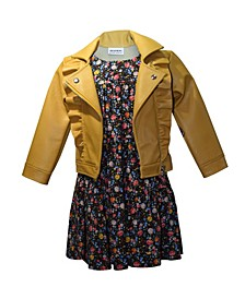 Little Girl Moto Jacket Dress Set