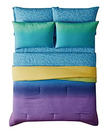 Mermaid Ombre 5 Piece Bed in a Bag, Twin
