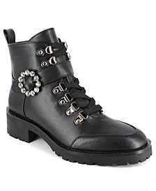 Women's Irina Lace Up Buckle Hiker Booties