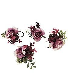 Martha Stewart Purple Eucalyptus Set of 4 Napkin Rings, Created for Macy's