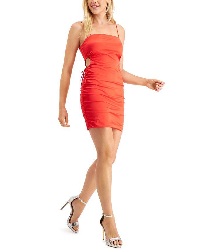 GUESS - Aisha Ruched Cutout Slip Dress