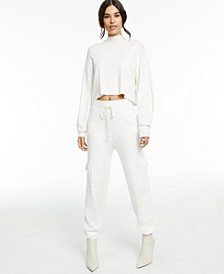 CULPOS x INC Long-Sleeve Knit Crop Top, Created for Macy's