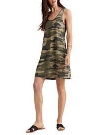Camo-Print Tank Dress