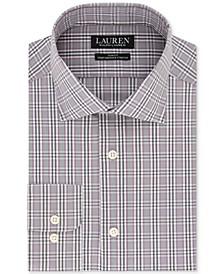 Men's Slim-Fit Non-Iron Ultraflex Performance Stretch Plaid Dress Shirt
