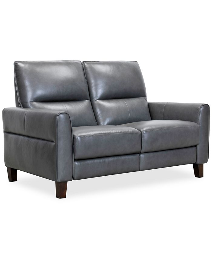 "Furniture - Tyvon 61"" Leather Power Motion Loveseat"