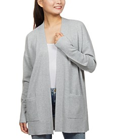 Juniors' Textured-Knit Cardigan