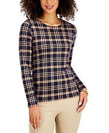 Cotton Plaid Top, Created for Macy's