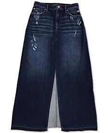 INC Cotton Denim Maxi Skirt, Created for Macy's