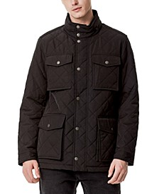 Men's Quilted Oversized Pocket Quilted Jacket