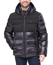 Men's Two-Tone Matte & Shiny Puffer Jacket