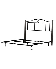 Dumont Arched Metal and Wood Full Headboard with Bed Frame
