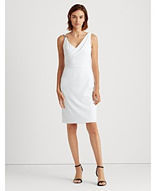 Embellished Surplice Jersey Cocktail Dress