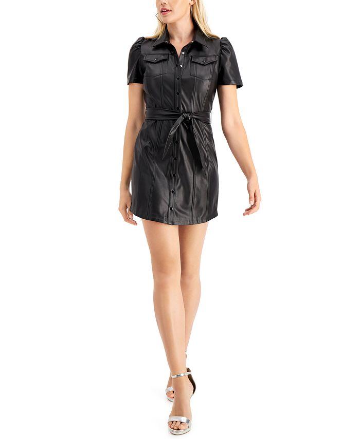GUESS - Lina Faux-Leather Shirtdress