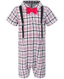 Baby Boys Plaid Sunsuit, Created for Macy's