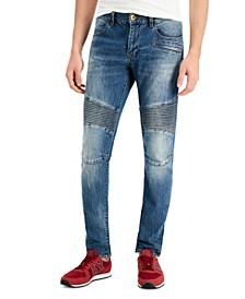 Men's Skinny Moto Jeans