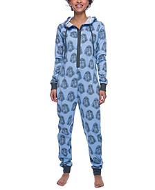 Darth Vader Hooded Fleece Union Suit Pajamas