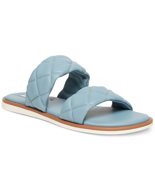 Steve Madden Women's Orsa Quilted Slide Sandals