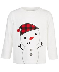 Baby Boys Snowman T-Shirt, Created for Macy's