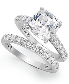 Sterling Silver Ring Set, Swarovski Zirconia Bridal Ring and Band Set (8 ct. t.w.)