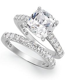 Sterling Silver Ring Set, Swarovski Zirconia Bridal Ring and Band Set (8 ct. t.w.)