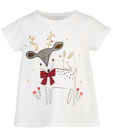 Baby Girls Holiday Deer Dancer T-Shirt, Created for Macy's