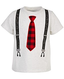 Toddler Boys Tie & Suspenders T-Shirt, Created for Macy's