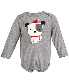 Baby Boys Holiday Puppy Bodysuit, Created for Macy's